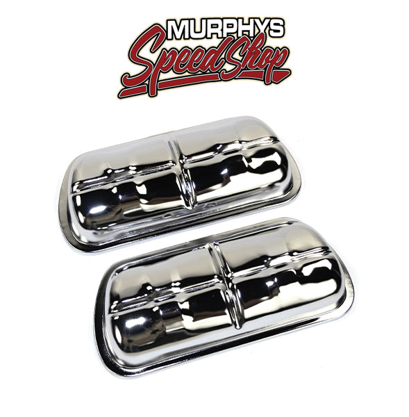 EMPI 8905 VALVE COVERS, Chrome Clip On, Fits 1500cc & Up