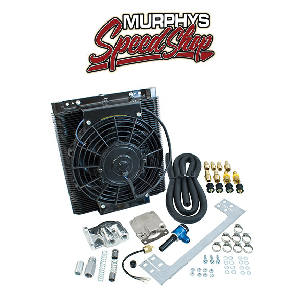 EMPI 9248 Mesa Tru Cool 96 Plate Full Flow Oil Cooler Kit W/Electric Fan Vw Bug
