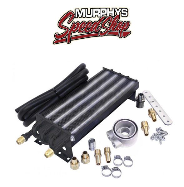 EMPI 9285 8 Pass Oil Cooler Kit, With Sandwich Style Adapter