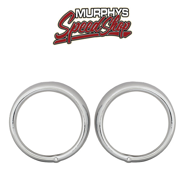 EMPI 9479 Chrome Headlight Rings, Vw Bug, Vw Bus, Type 3 Vw Squareback, Pair