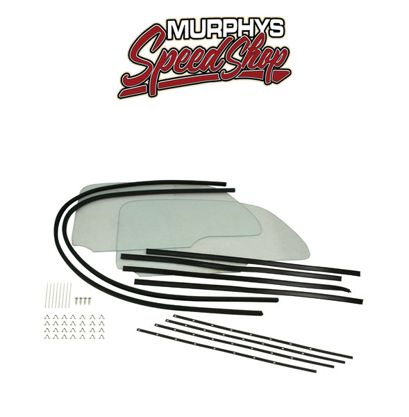 EMPI 9780 1 PIECE WINDOW KIT, Snap In Style, For Beetle 58-64
