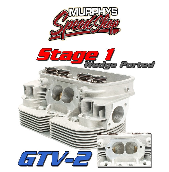EMPI 98-1431-B GTV-2 CNC VW HEADS, 94mm Stage 1 Port Job, Dual Spring, Pair
