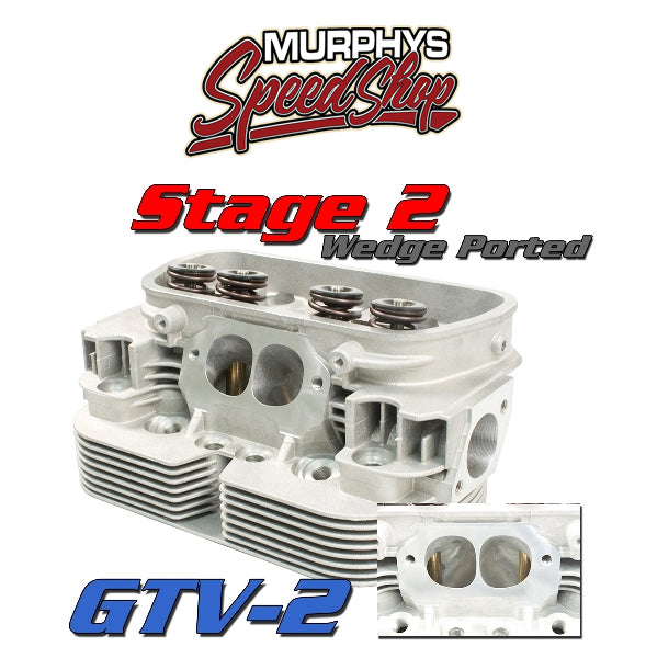 EMPI 98-1432-B GTV-2 CNC VW HEADS, 92mm Stage 2 Port Job, Dual Spring, Pair