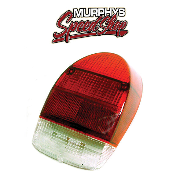 EMPI 98-2026 Right Tail Light Lens 1971-72 Vw Bug/Super Beetle, Red Lens, Each