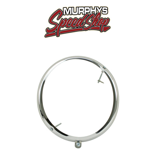 EMPI 98-2060 Early Vw Bug Chrome Headlight Ring 1950-1966, Screws Top/Bottom