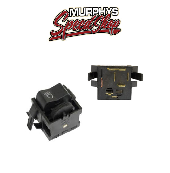 EMPI 98-9422-B Headlight Switch, 6 Prong, Type 1 and S/B 73-79