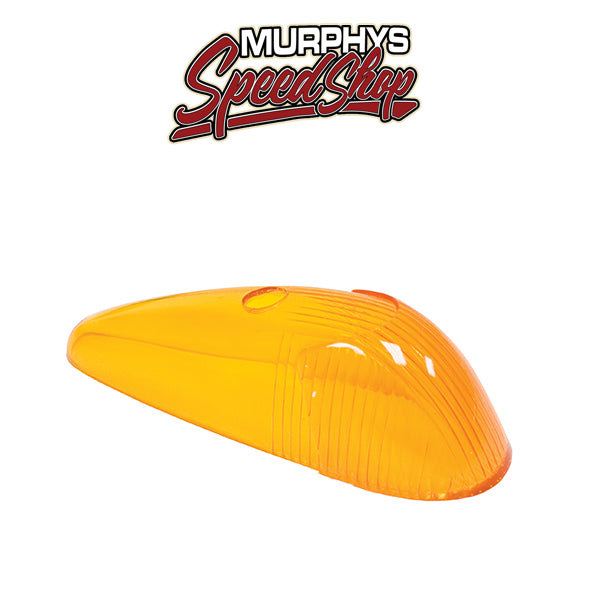 EMPI 98-9522 Turn Signal Lens, Left & Right, 58-63, Amber, Each