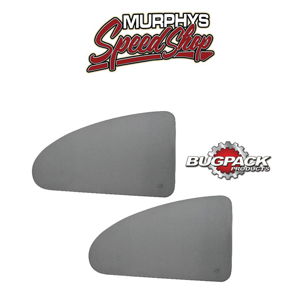 EMPI B6-0002-1 GREY TINTED QUARTER WINDOWS, For Beetle 65-77, pair