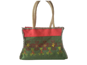 Fabric Painted Hand Bag