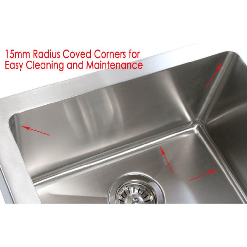 Stainless Steel Curved Front Farm Apron 60/40 Double Bowl Kitchen Sink