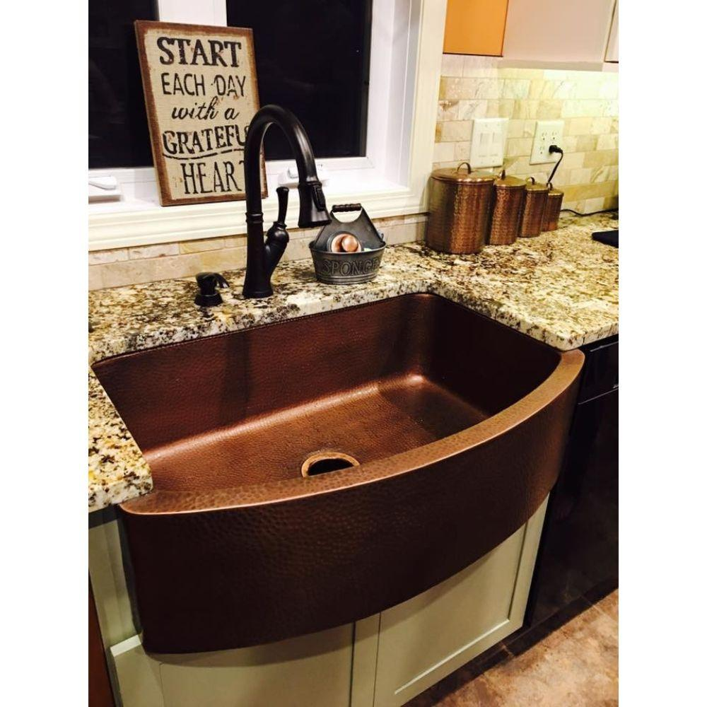 Ernst Farmhouse Sink, Copper