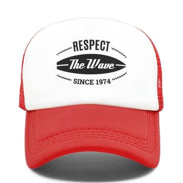 Casquette Trucker Surfer Respect The Wave