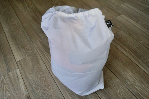 Extra Large Organic Cotton Storage bag for Quilts and Sleeping bags
