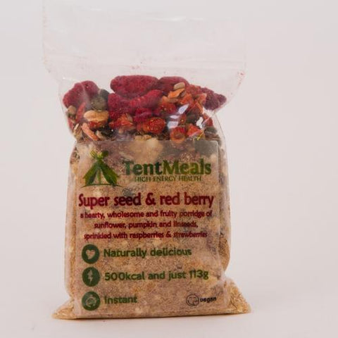 TentMeals Super seed & red berry breakfast - 500 kcal