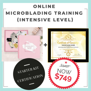 Online Microblading Training -INTENSIVE LEVEL (Starter Kit + Certification Included)