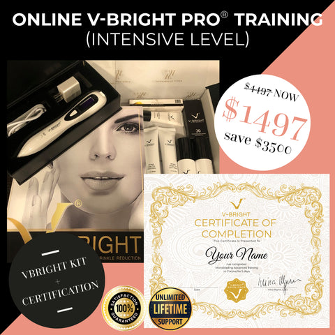 Online V-Bright Pro® Training -INTENSIVE LEVEL (Starter Kit + Certification Included)