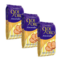 9 De Oro Bizcochitos Azucarados 200g (3 Pack)
