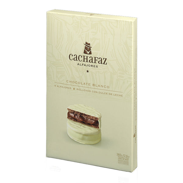 Cachafaz Alfajor de Chocolate Blanco 6u - Exp 01/07/21