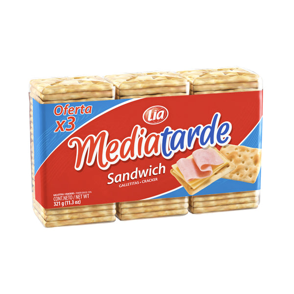 Mediatarde - Sandwich (x3) 321g