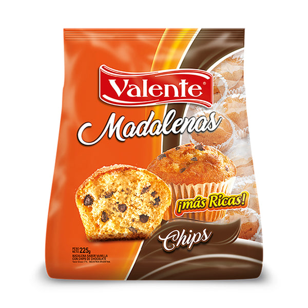 Valente - Madalena con Chips de Chocolate 225g