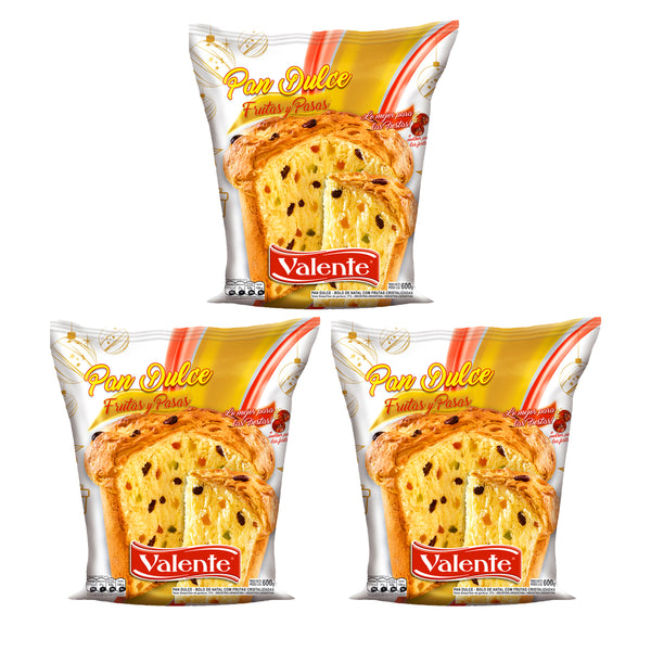 Pan Dulce Valente 600g (3 Pack)