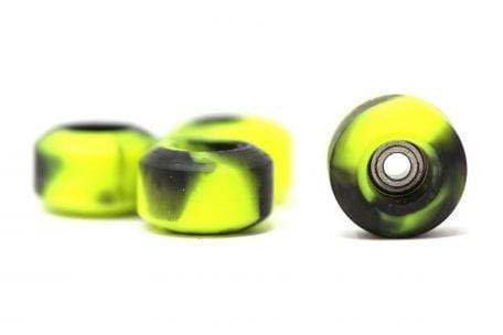 Elastico - Lime Green/Black Swirl Urethane Wheels (70D Street Shape)