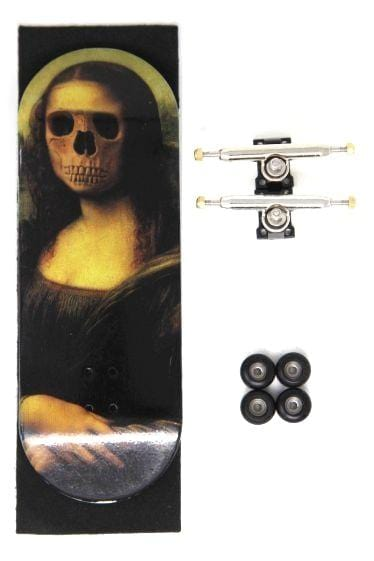 Mona Pro Complete Wooden Fingerboard (34mm)(Skull Pro Trucks - Single Axle - 6 Locknuts)