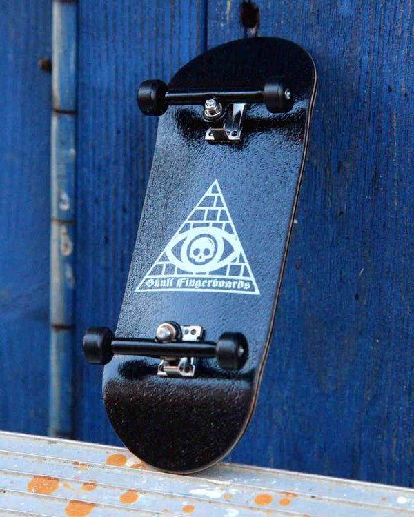 illuminati Pro Complete Wooden Fingerboard (34mm) (Skull Pro Trucks - Single Axle - 6 Locknuts)