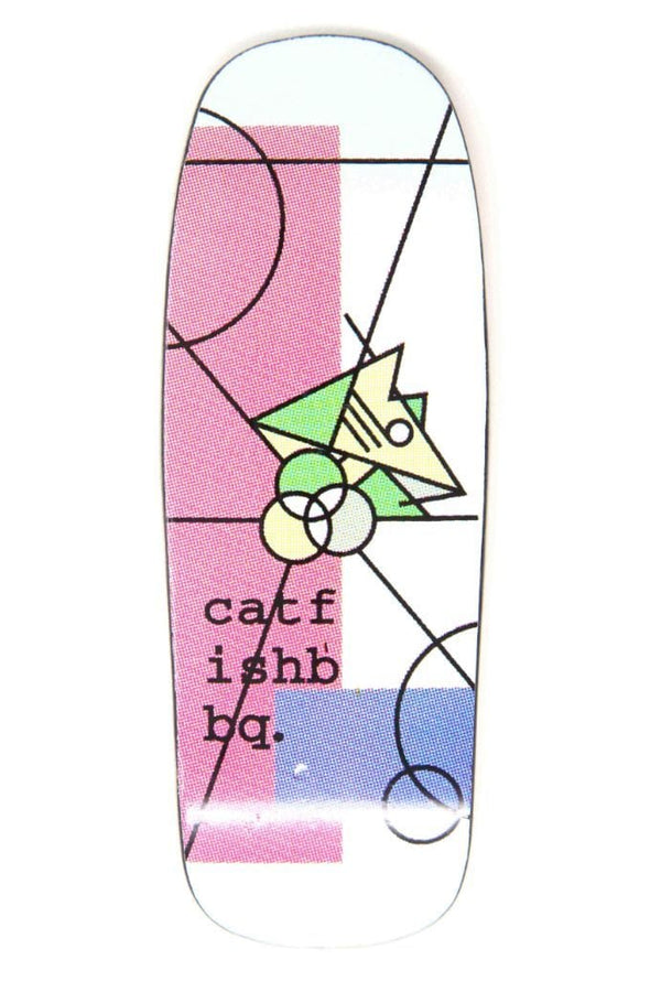 Catfishbbq - Abstracat Pink BoxHead Fingerboard Deck (Saltwater)