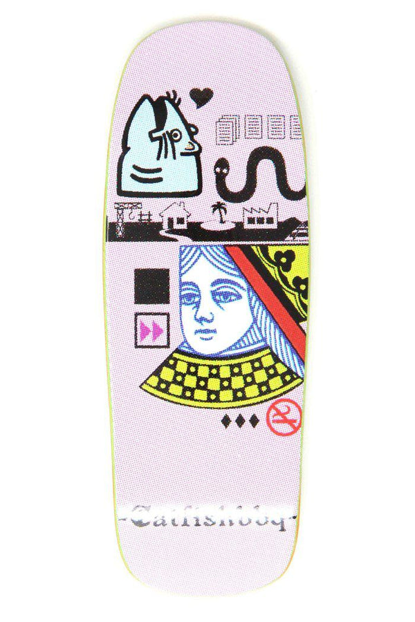 Catfishbbq - Her Majesty Pink BoxHead Fingerboard Deck