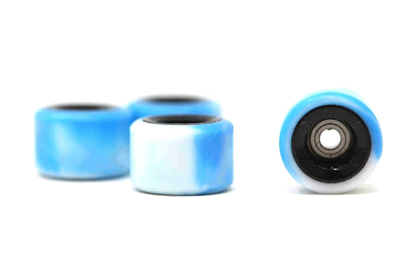 Elastico - Blue/White/Black Swirl Dual Core Urethane Wheels (70D)