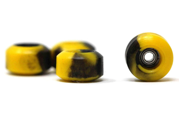 Elastico - Yellow/Black Swirl Street Shape Urethane Wheels (70D)
