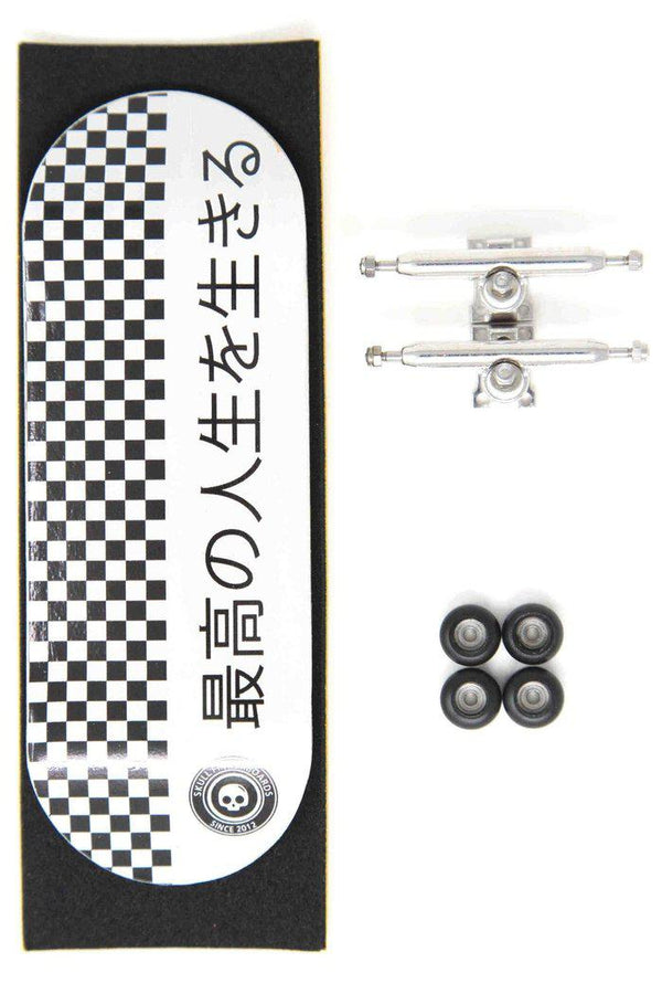 Japan Pro Complete Wooden Fingerboard (34mm) (Skull Pro Trucks - Single Axle - 6 Locknuts)