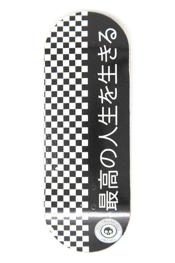 Japan Black Edition Wooden Fingerboard Graphic Deck (34mm)