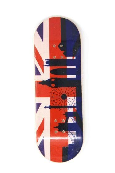 The Rule Britannia Wooden Fingerboard Graphic Deck (32mm)