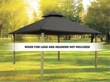 Acacia Outdura Gazebo - Cadet Grey