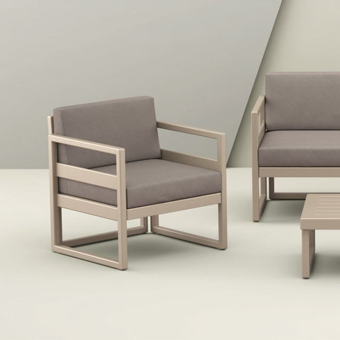 Mykonos Club Chair - Taupe