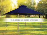Acacia Outdura Gazebo - Pacific Blue