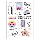 BKR THIRSTY STICKER SHEET