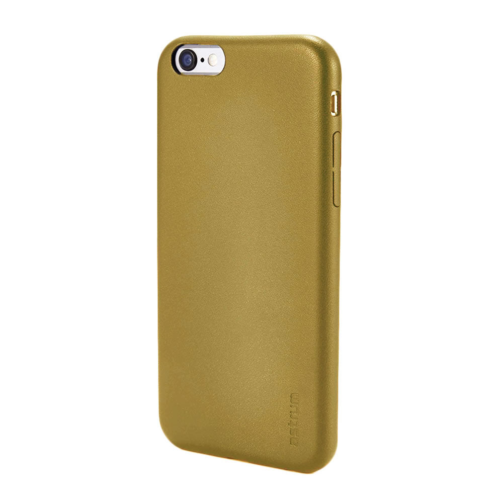 Leather Hard Back Case, For iPhone® 6 / 6s, Genuine leather material, Ultra light, Gold