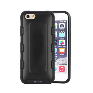 Rugged Dual Layer Case, For iPhone® 6 / 6s , Hybrid shockproof design, Slim hard shell, Black