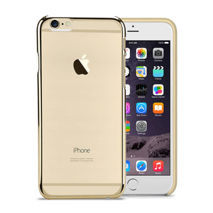 Electro Paint Clear Case, For iPhone® 6 / 6s Plus, Clear case with Electro paint, Transparent + Gold