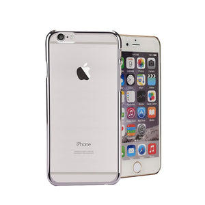 Electro Paint Clear Case, For iPhone® 6 / 6s Plus, Clear case with Electro paint, Transparent + Silver