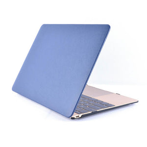 "Laptop Hard Plastic Shell, For MacBook® 12"", Leather soft touch, Rubberized feet, Removable, Vent holes, Blue"