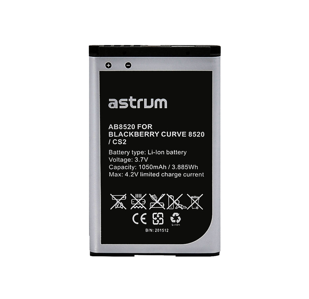 Mobile Replacement Battery Ab8520 For Bb Curve 8520 / Cs2 For Blackberry® 8520