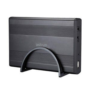 3.5 Inch Sata / Ide Hdd Enclosure, USB2.0, Support Sata-II / Sata-III / Ide, Power adapter, Stand, Black