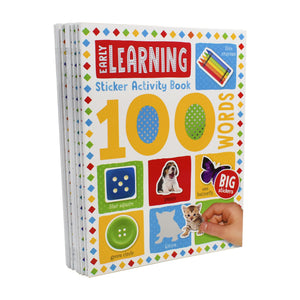 100 Words Sticker Activity 10 books set - Ages 7-9 - Paperback