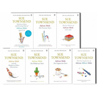 Adrian Mole Series 8 Books Children Collection Paperback Set By - Sue Townsend