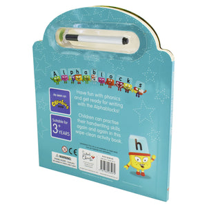 Alphablocks official Wipe Clean ABC - Pen Included Board book - Age 0-5