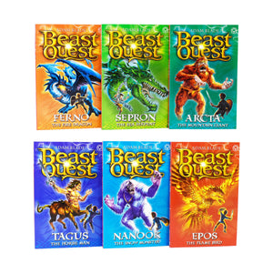 Beast Quest 6 Books Collection Set Series 1 Paperback by Adam Blade